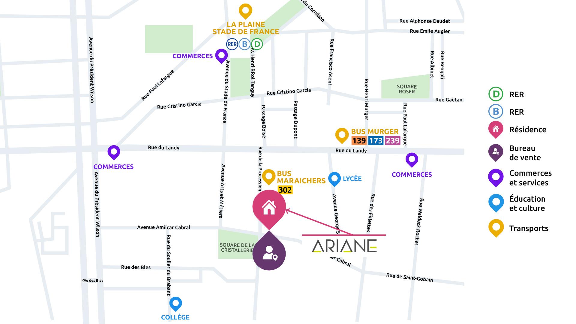 adresse immobilier neuf à Saint Denis