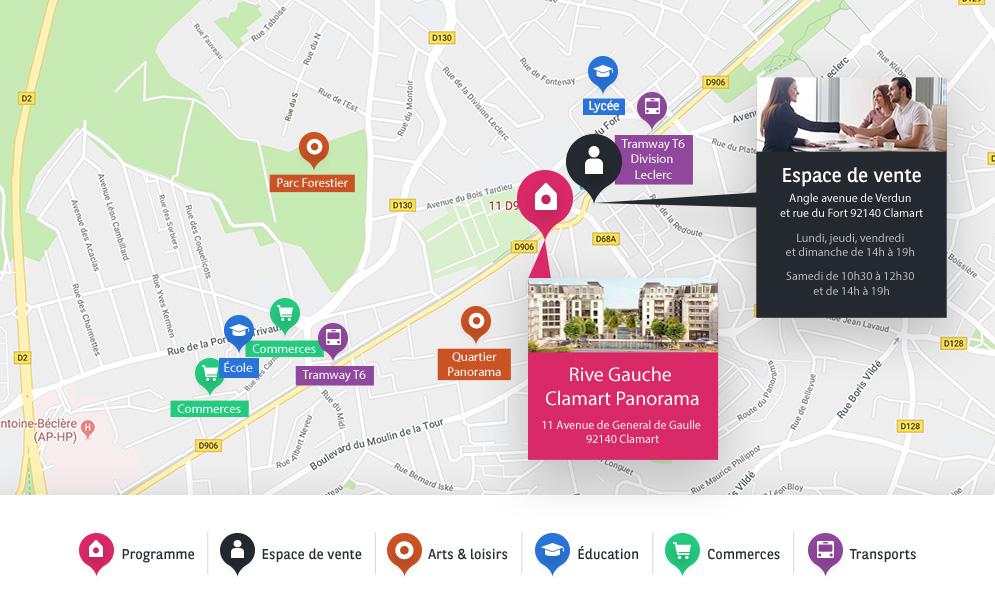 adresse BV Clamart Rive Gauche