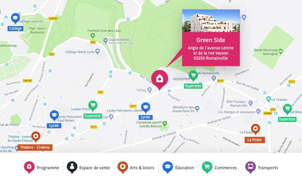 adresse BV romainville green side