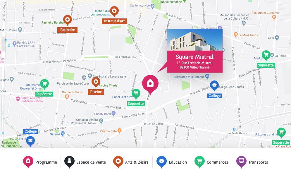 Adresse BV Square Mistral villeurbanne
