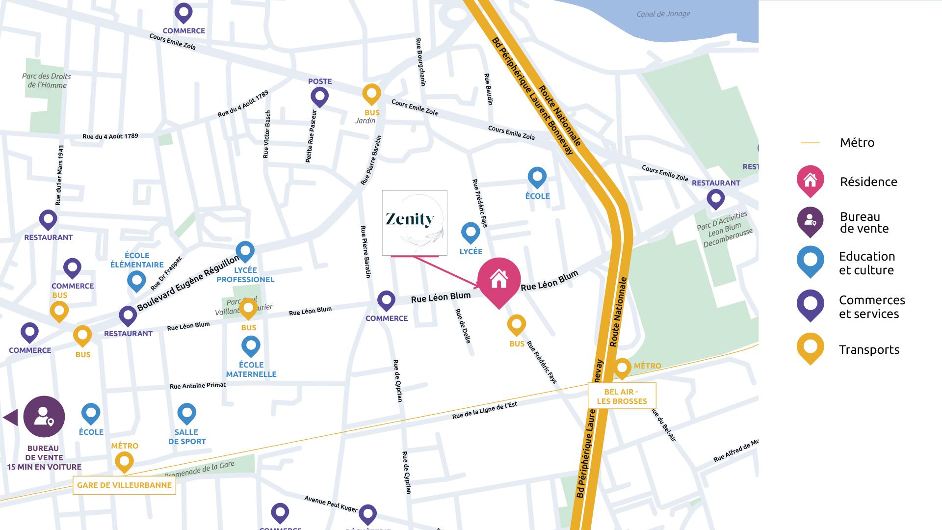 adresse résidence Zenity Bnpparibas Immobilier