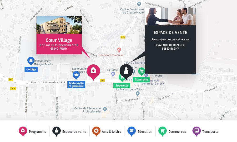 adresse BV Coeur Village Irigny