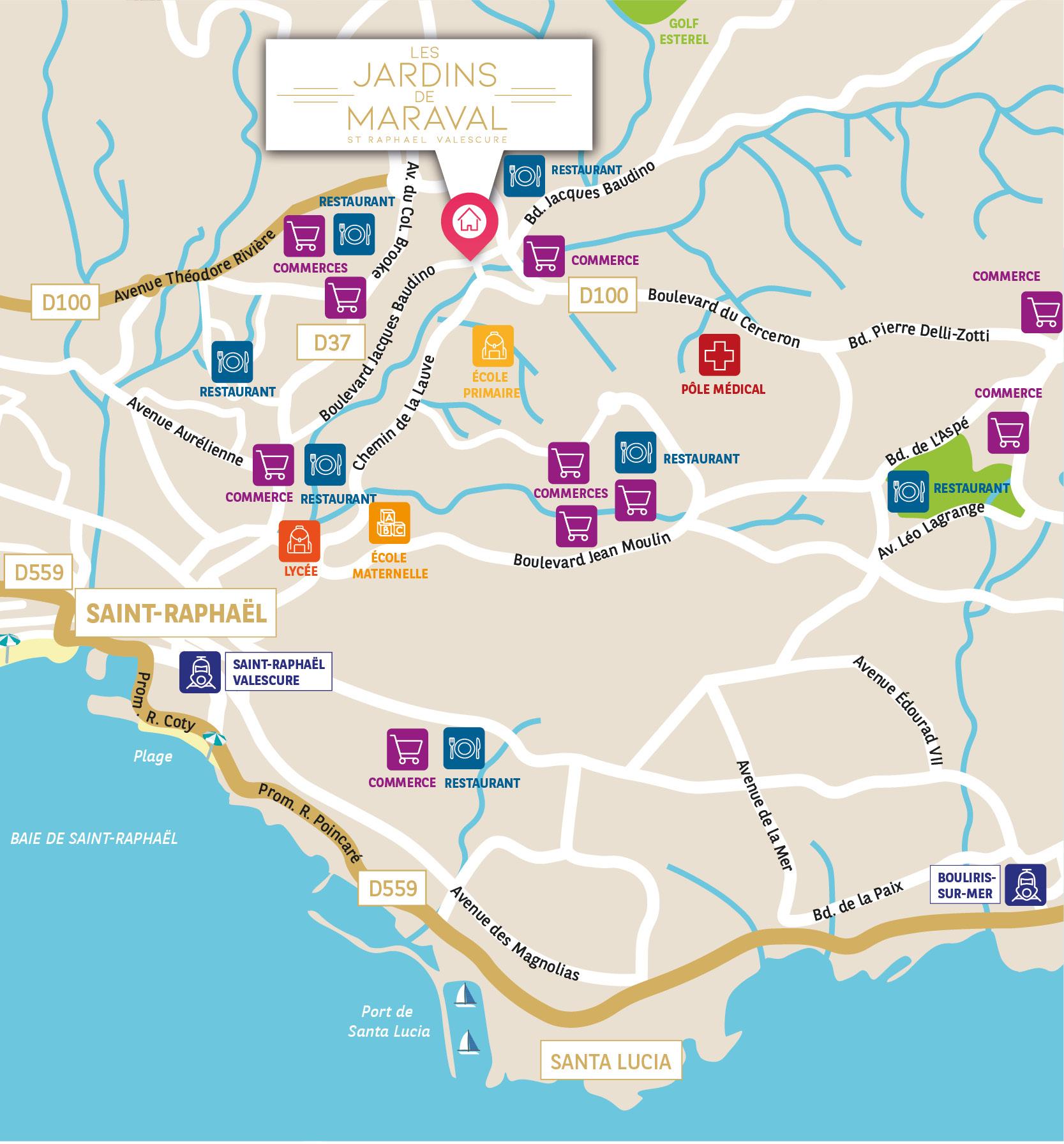 adresse - appartements neufs à Saint-Raphaël