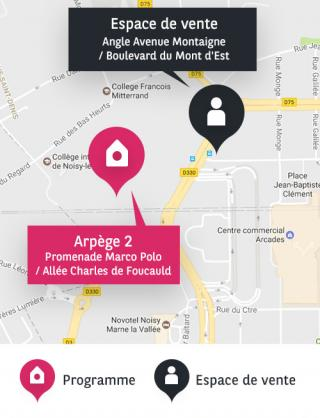 adresse immobilier neuf à Noisy le grand
