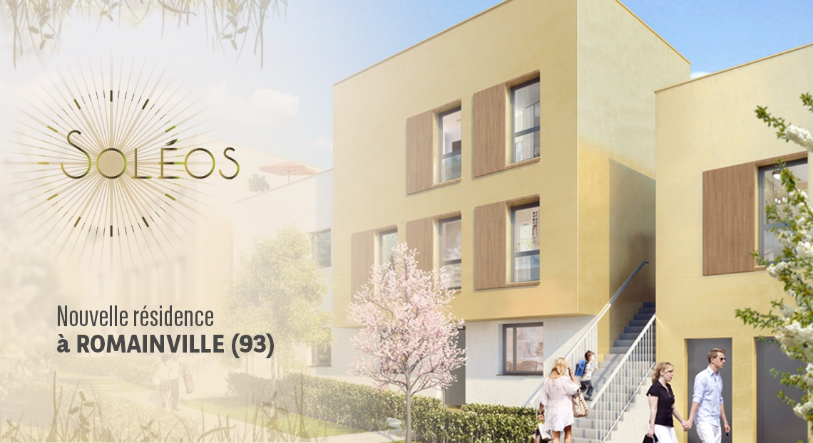 Programme immobilier romainville soleos immobilier for Achat maison romainville