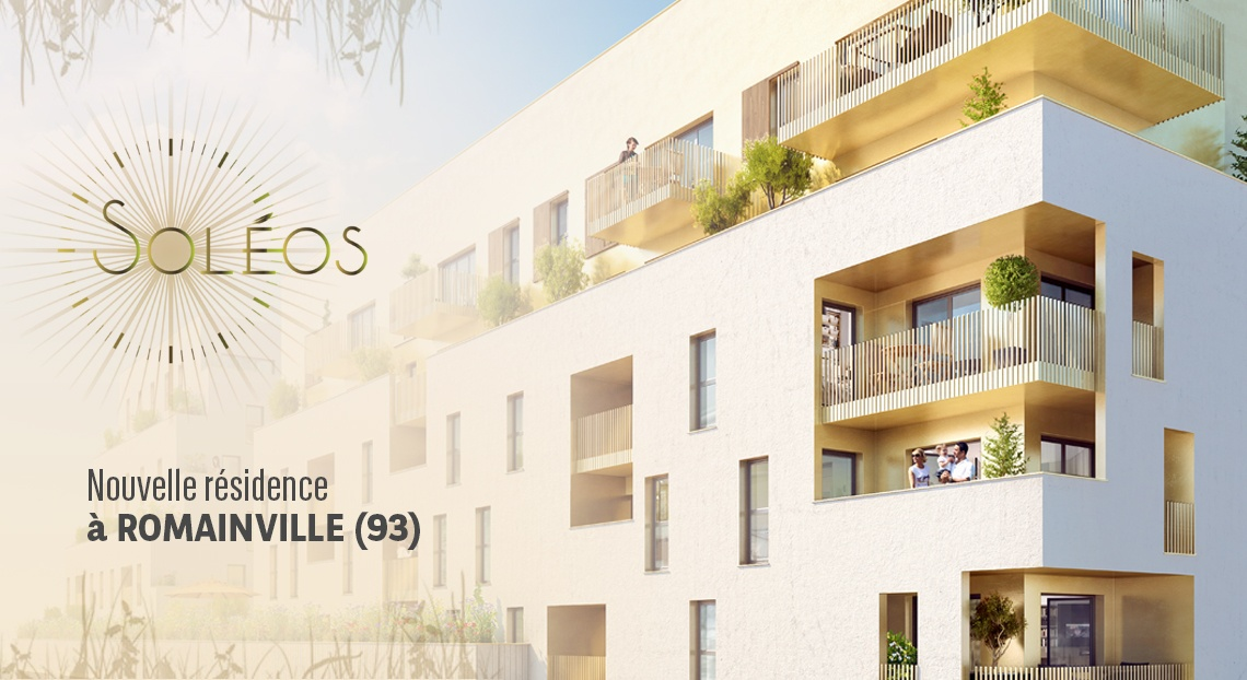 soleos romainville residence neuf bnp paribas immobilier