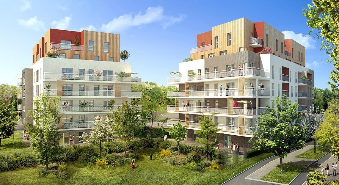 cergy-pontoise-horizon-parc-perspective-exterieure- logement neuf