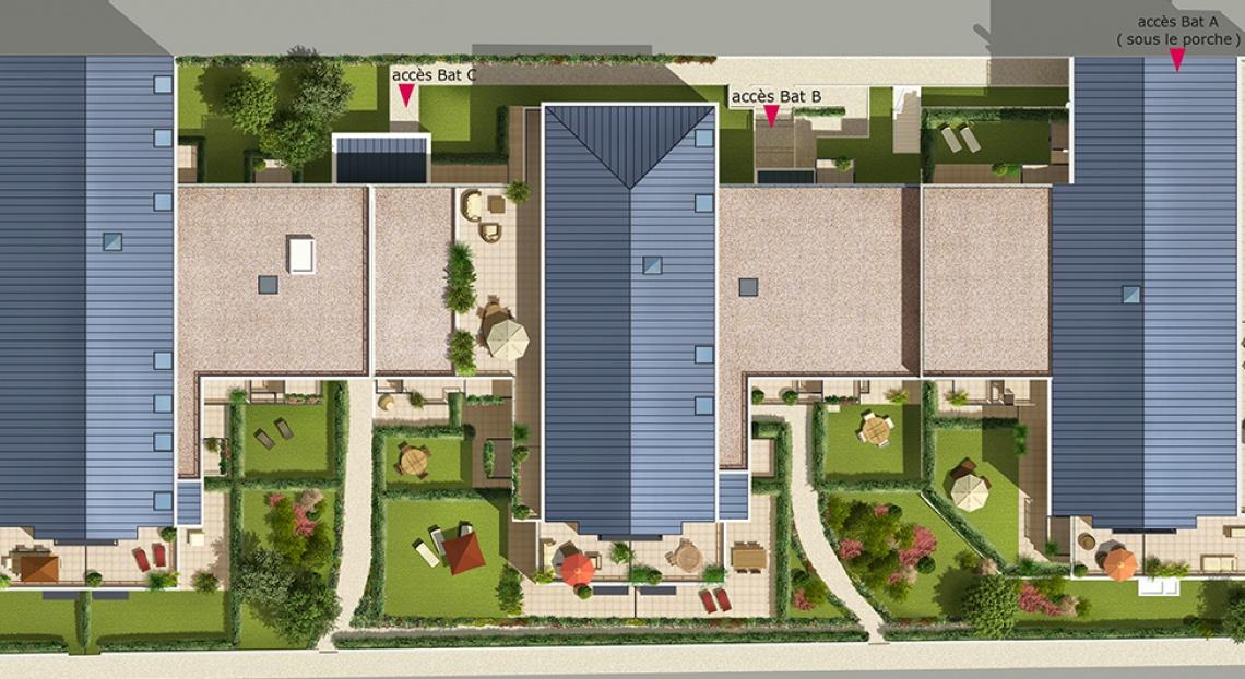 Plan masse cachan aqua verde immobilier neuf vefa bnp paribas immobilier