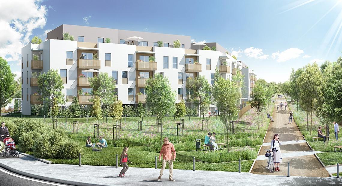 Perspective extérieure programme Initiale à Bruges