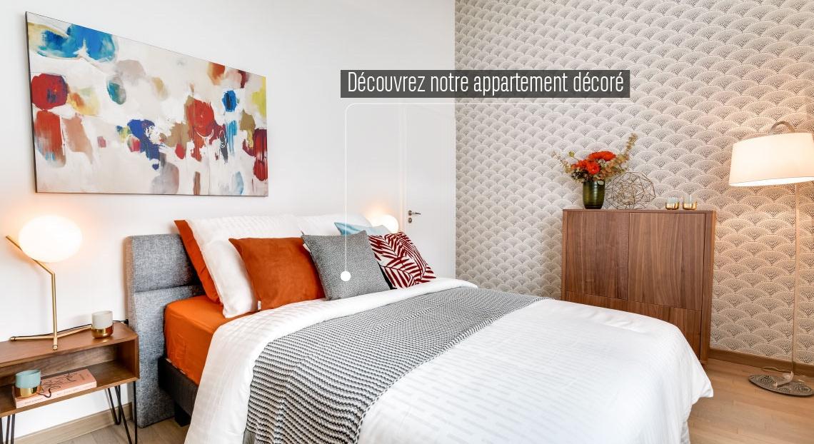 Paris 14, appartement neuf, chambre