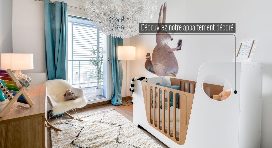 Paris 14, appartement neuf, chambre enfant