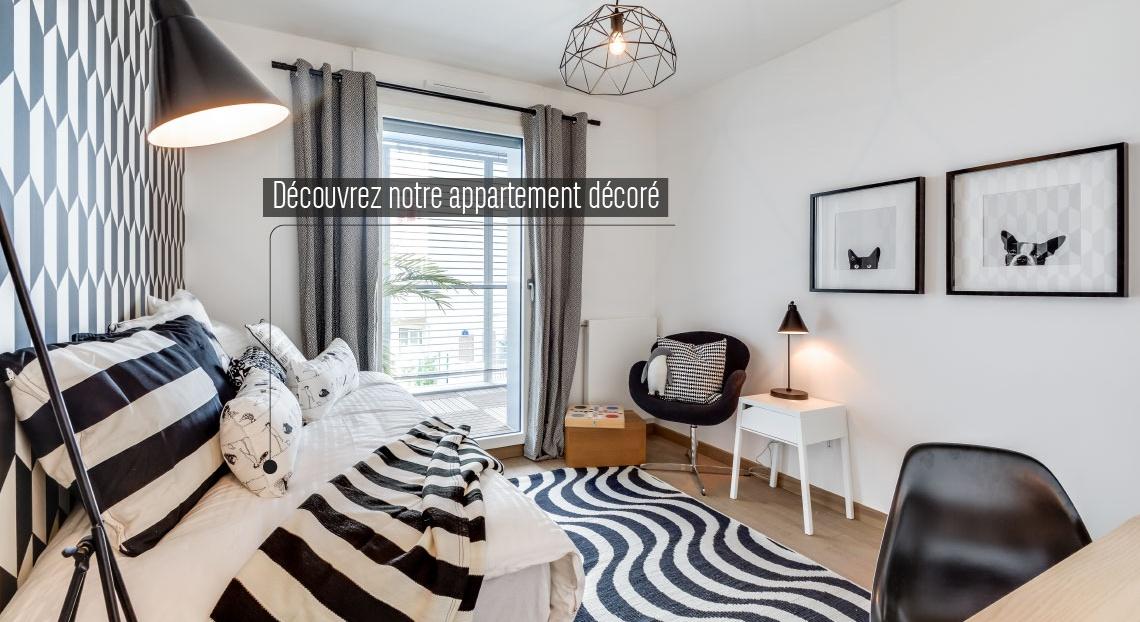 Paris 14, appartement neuf, chambre 2