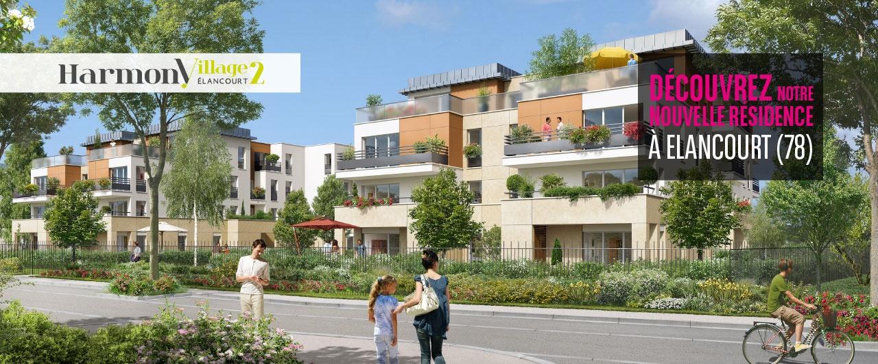 Elancourt harmony village achat immobiler neuf