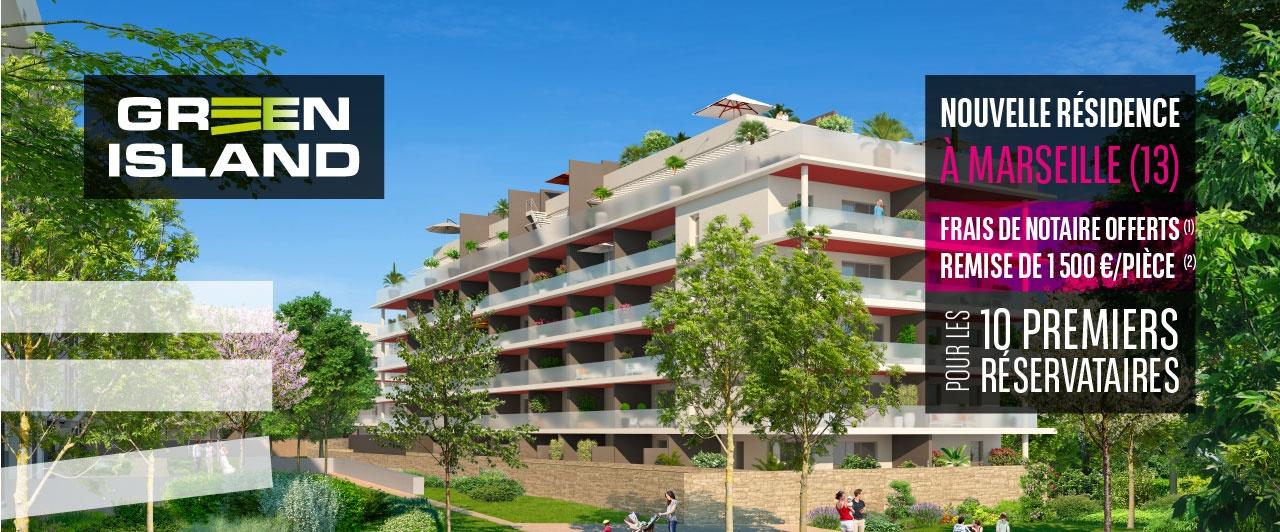 Nouveau programme immobilier à Marseille-Green Island