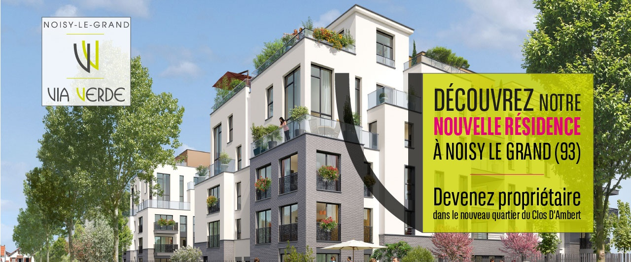 Noisy le grand-Via VERDE achat immobilier