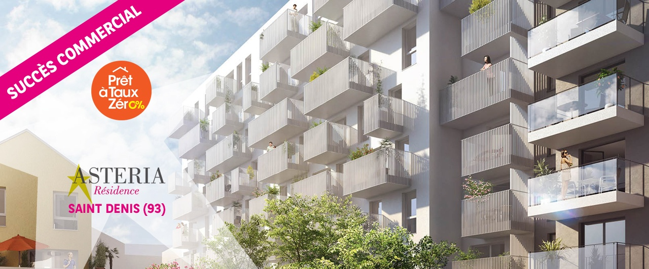immobilier neuf saint denis asteria achat appartement neuf
