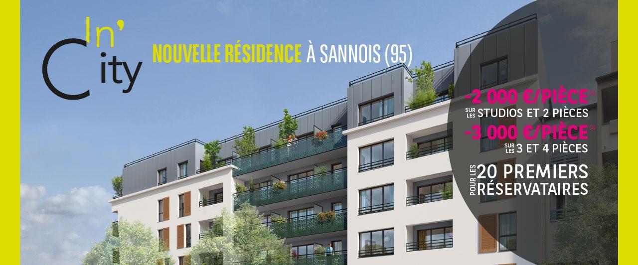 achat appartement neuf résidence incity à sannois