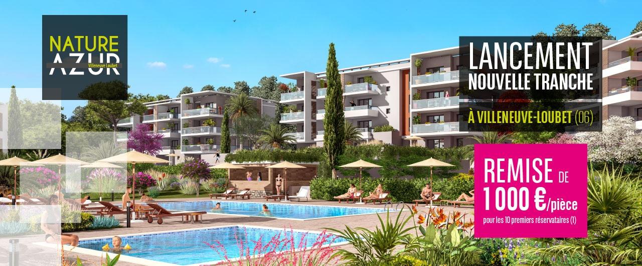 Offre immobilier neuf à Villeneuve-Loubet- Nature Azur t2