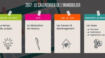 2017 : le calendrier de l'immobilier